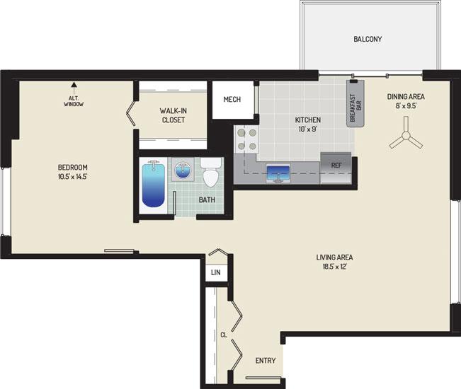Carrollon Manor Apartments - Apartment 528619-101-A2