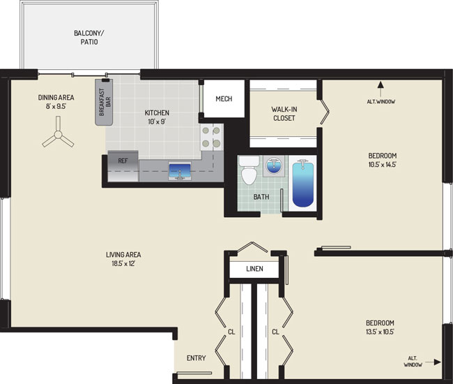 Carrollon Manor Apartments - Apartment 528629-01-G1