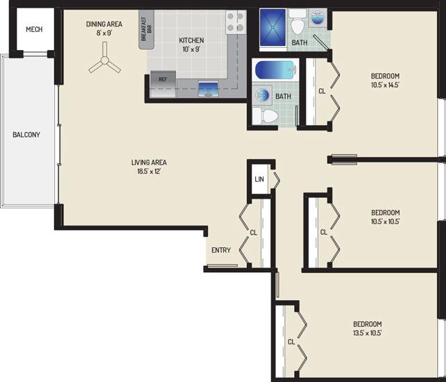 Carrollon Manor Apartments - Apartment 528627-102-K1