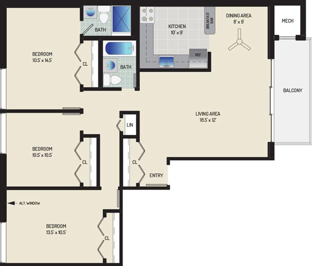 Carrollon Manor Apartments - Apartment 528625-102-K2