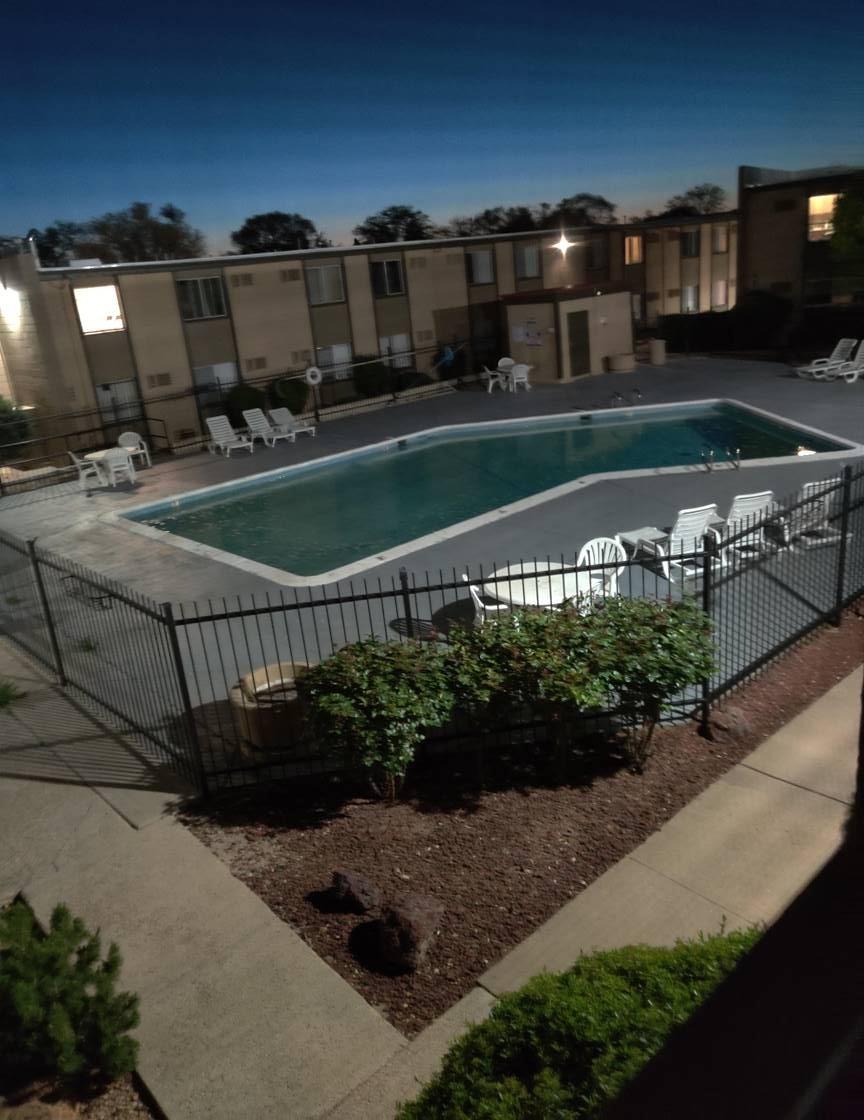 Sparkling Pool at Casitas De Bella Apartments in Santa Fe, NM