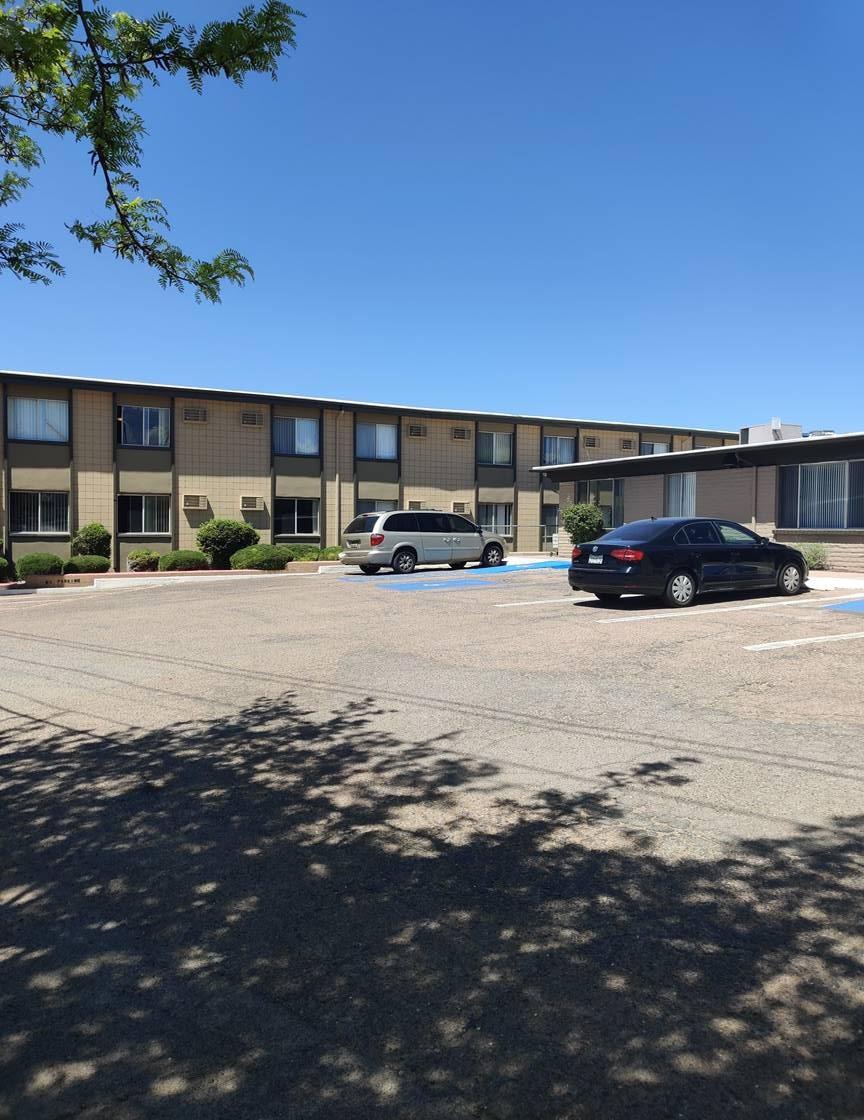 Open Parking at Casitas De Bella Apartments in Santa Fe, NM
