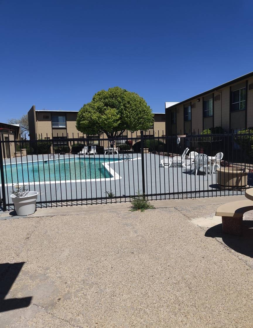 Large Pool at Casitas De Bella Apartments in Santa Fe, NM