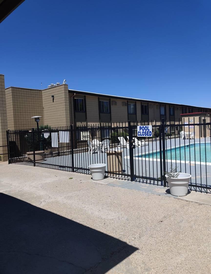 Gated Pool at Casitas De Bella Apartments in Santa Fe, NM