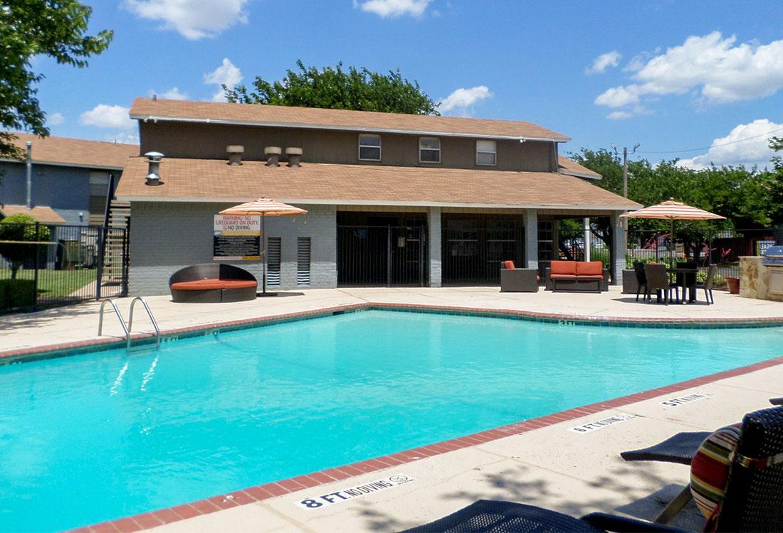 Sparkling Swimming Pool at Cedar Creek Apartments in Abilene, Texas