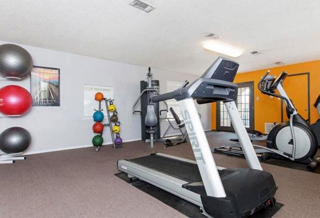 Fully Equipped Fitness Center at Cedar Creek Apartments in Abilene, Texas