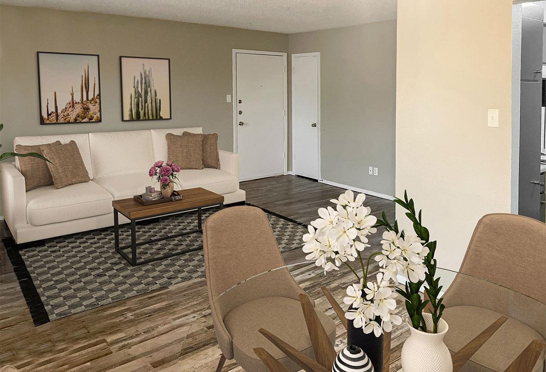 Wood-Look Flooring at Cedar Creek Apartments in Abilene, Texas