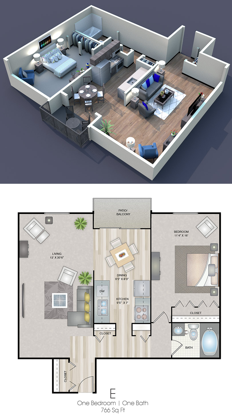 Cedars of Edina - Floorplan - E