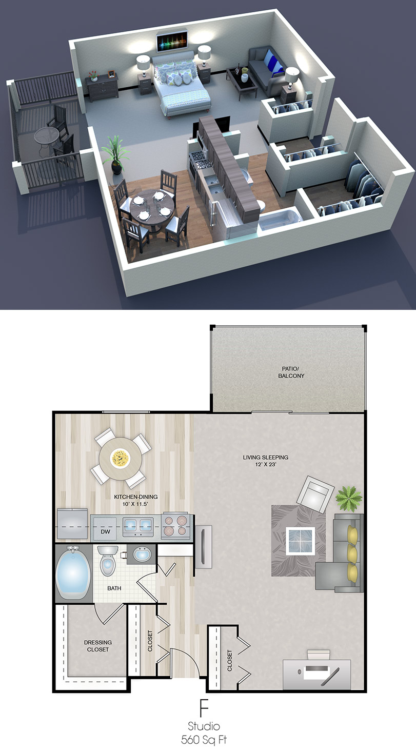 Cedars of Edina - Floorplan - F