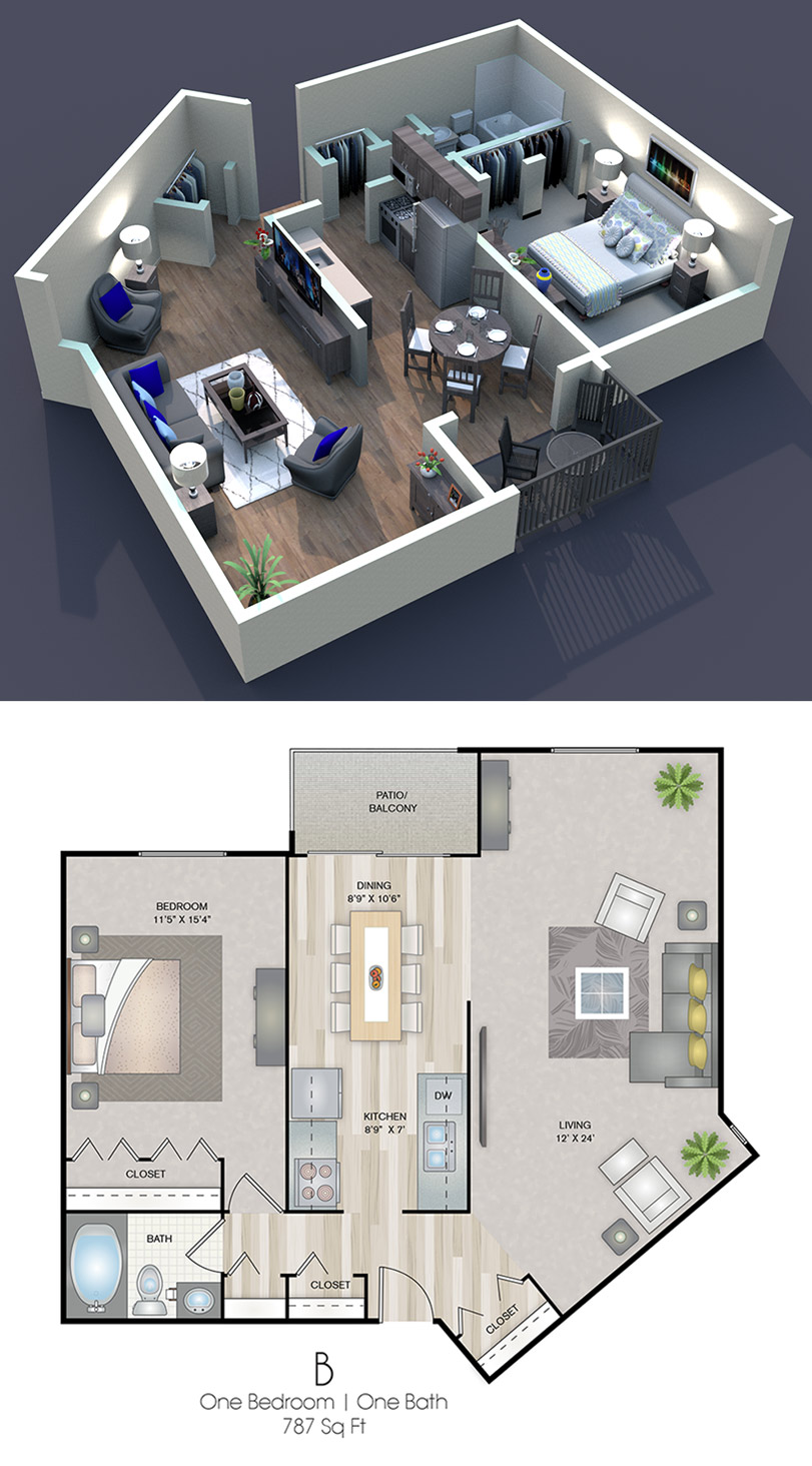 Cedars of Edina - Floorplan - B