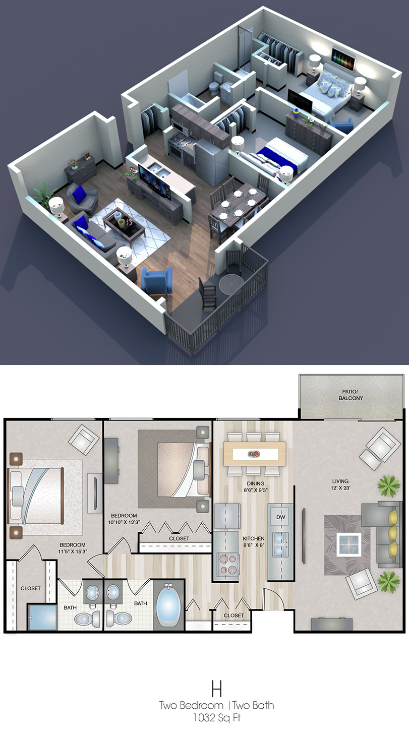 Cedars of Edina - Floorplan - H