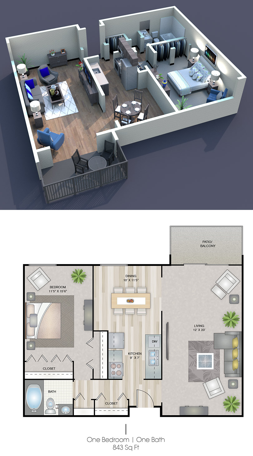 Cedars of Edina - Floorplan - I