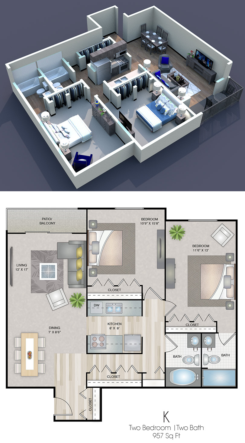 Cedars of Edina - Floorplan - K