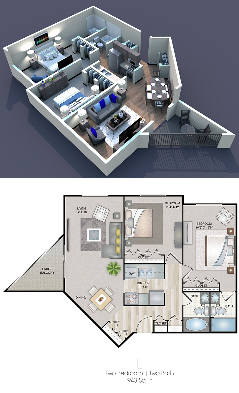 Cedars of Edina - Floorplan - L