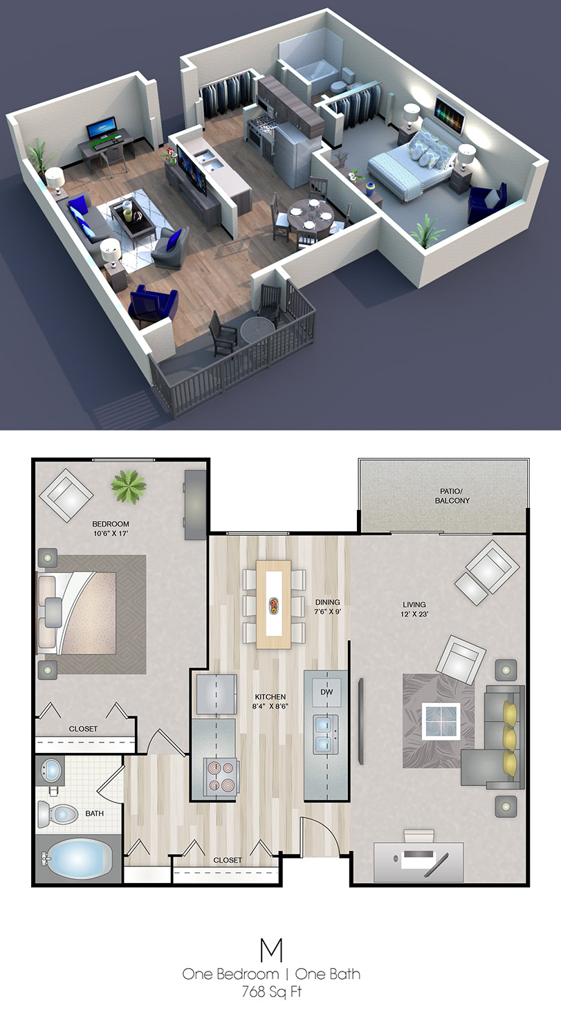 Cedars of Edina - Floorplan - M