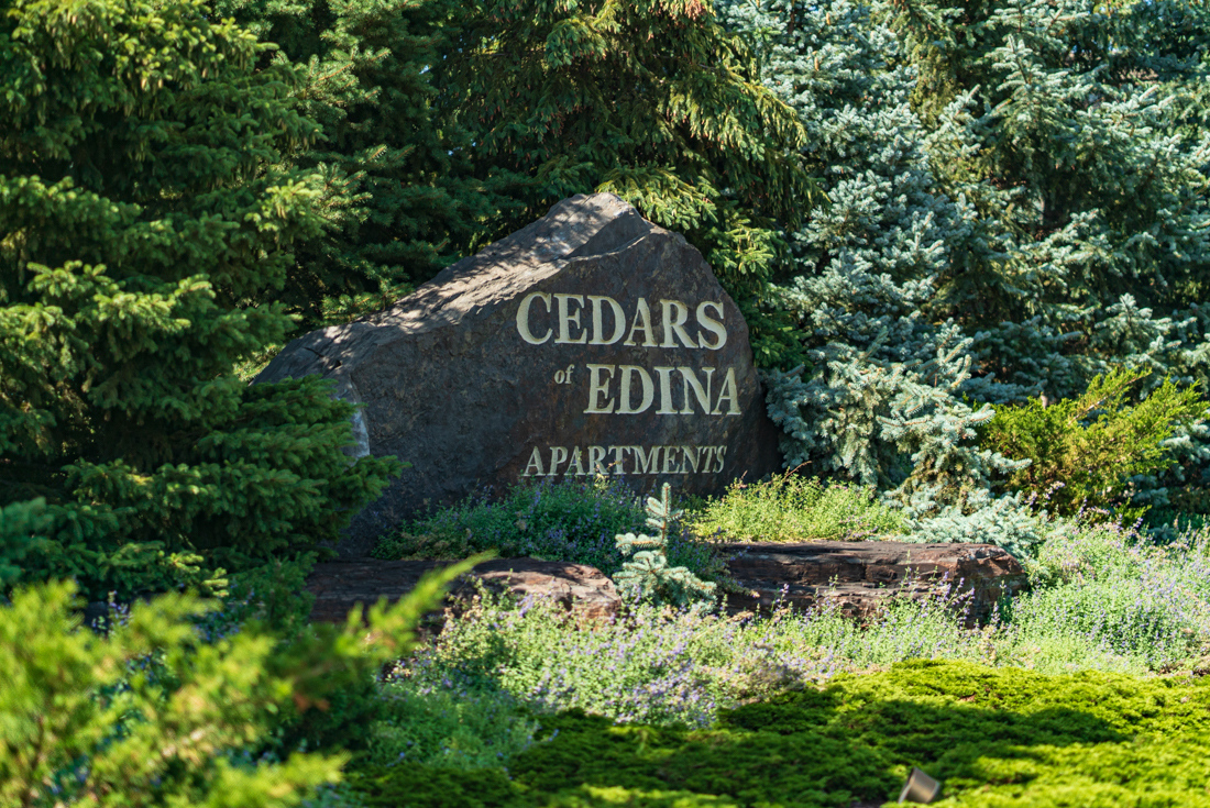 A very welcoming entry at Cedars of Edina Apartments in Edina, MN