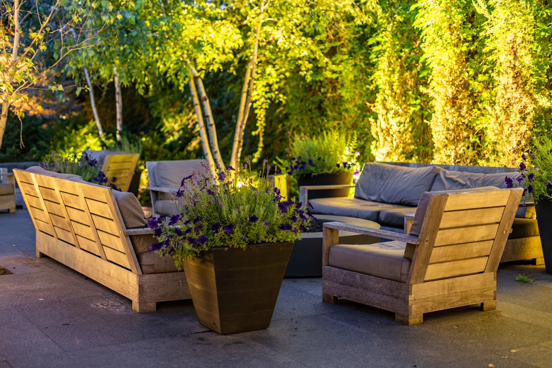 A place to have small talks at Cedars of Edina Apartments in Edina, MN
