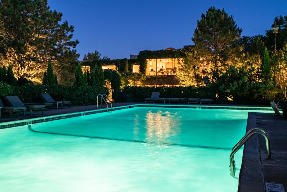 Swim in the pristine swimming pool at Cedars of Edina Apartments in Edina, MN