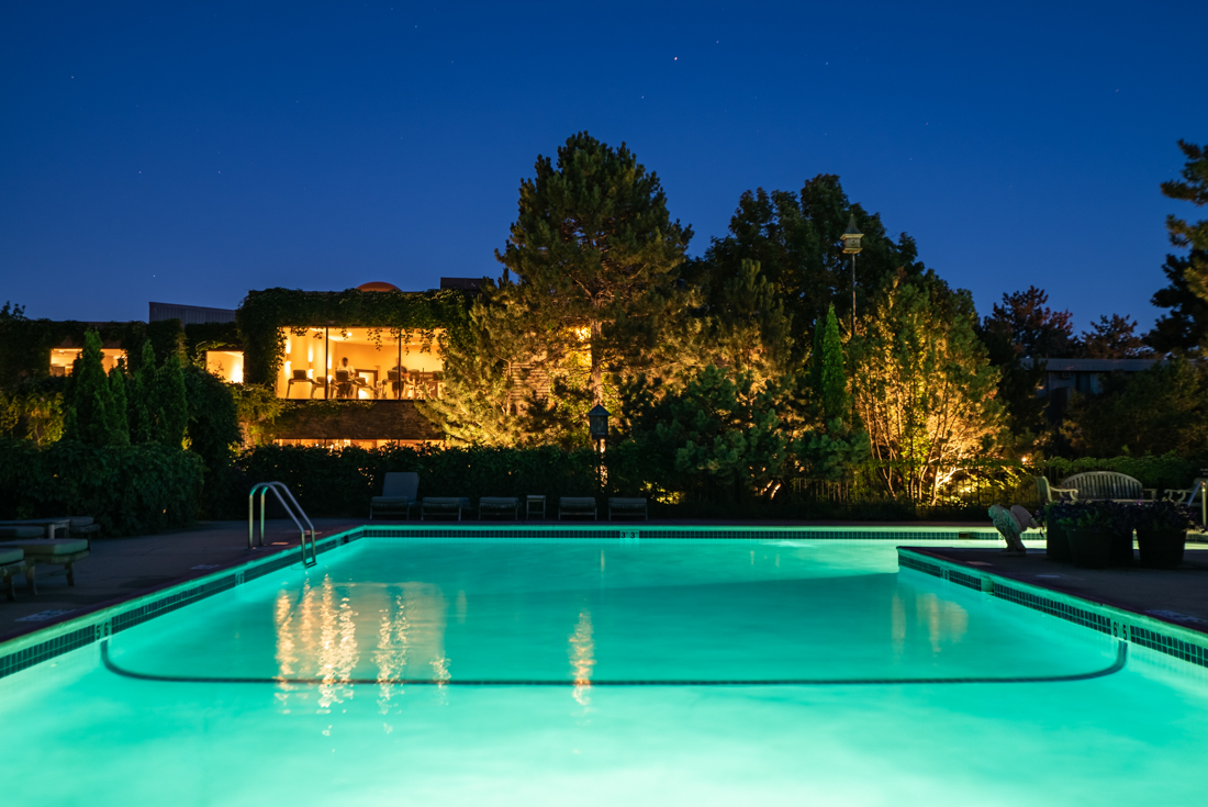 Feel refreshed when you swim in this swimming pool at Cedars of Edina  Apartments in Edina, MN