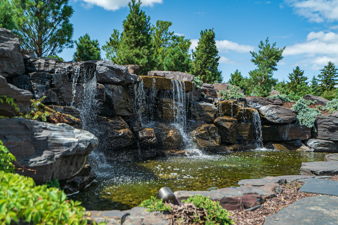 Mini waterfalls at Cedars of Edina Apartments in Edina, MN