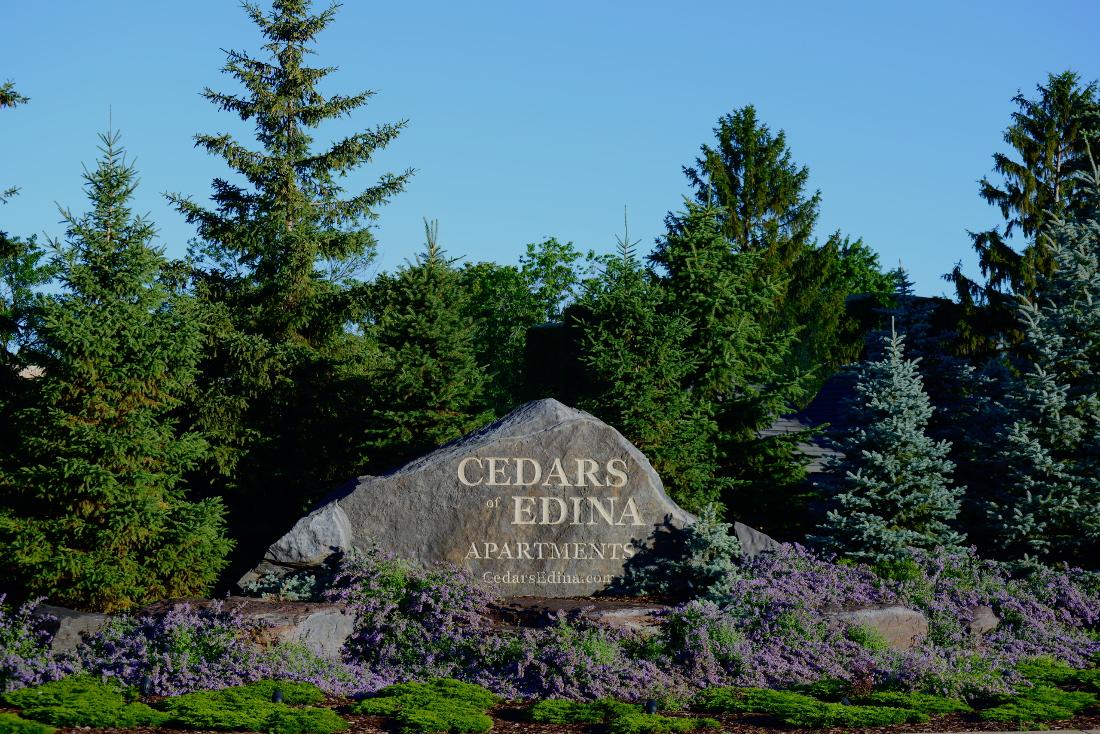 Beautifully Landscaped Grounds at Cedars of Edina Apartments in Edina, MN