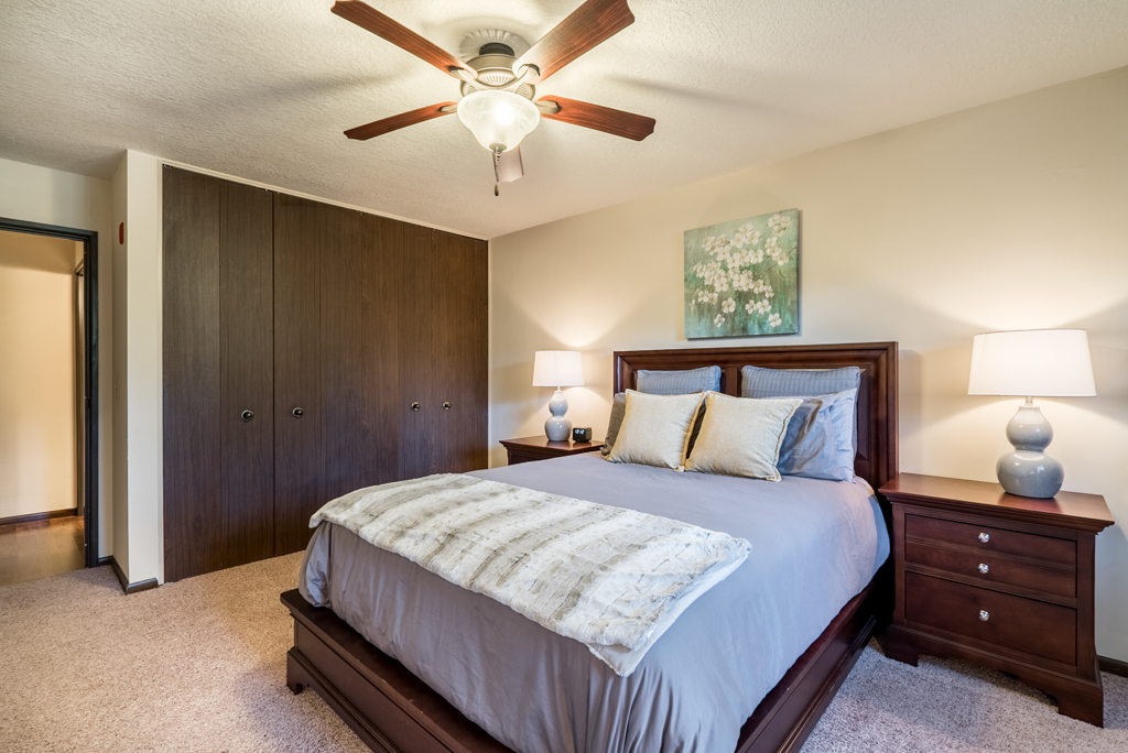 Bedrooms at Ceiling Fans at Cedars of Edina Apartments in Edina, MN