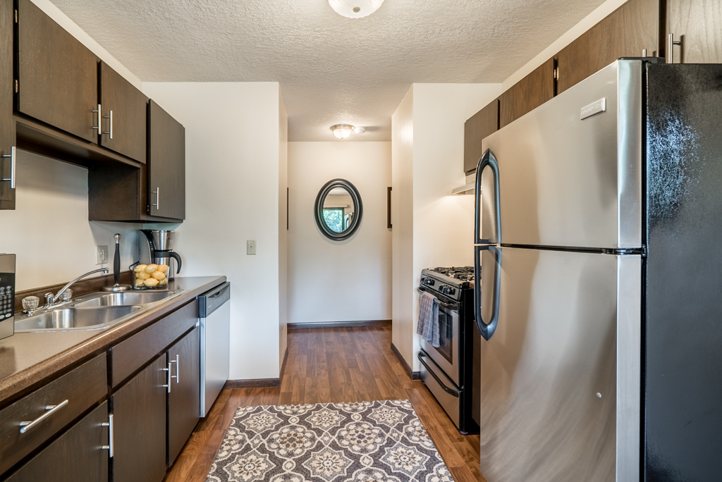 Large Galley Kitchens at Cedars of Edina Apartments in Edina, MN