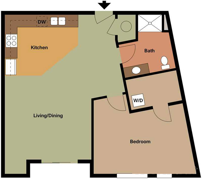 Centerline Apartments - Floorplan - CAROLE