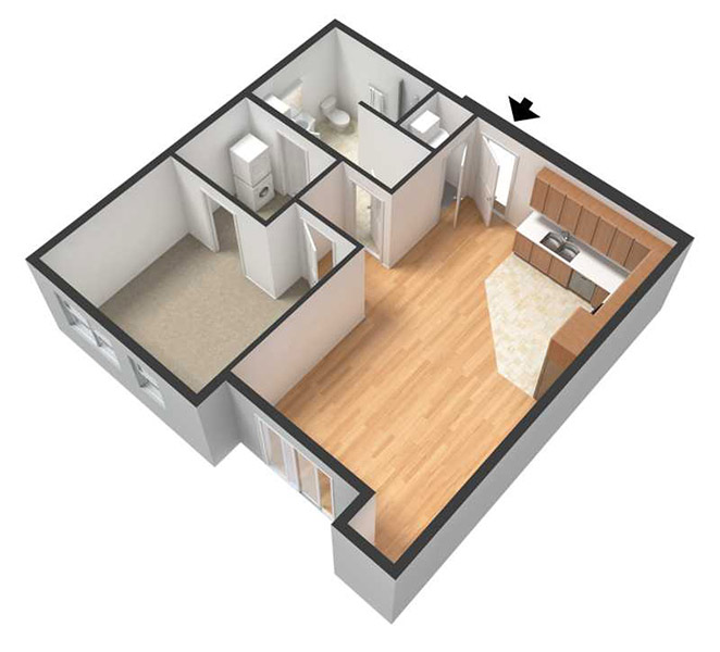 Centerline Apartments - Floorplan - ROSALIND