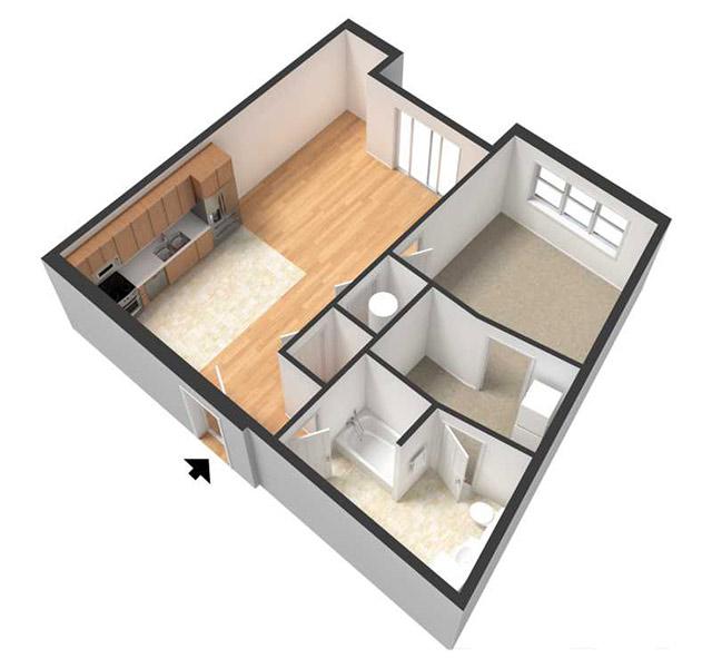 Centerline Apartments - Floorplan - BILLIE