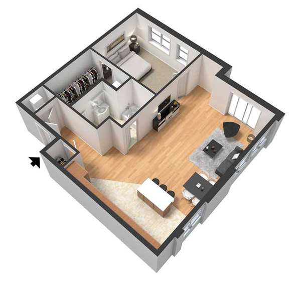 Centerline Apartments - Floorplan - ROSA