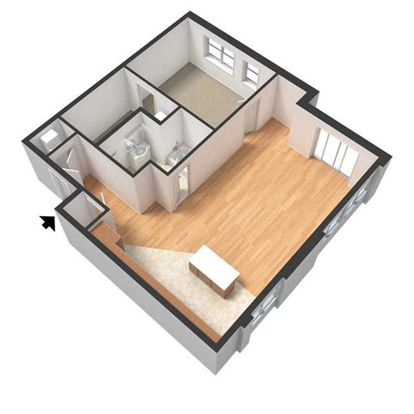 Centerline Apartments - Floorplan - ROSA
