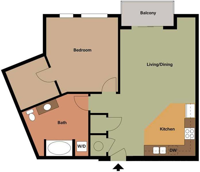Centerline Apartments - Floorplan - RUTH