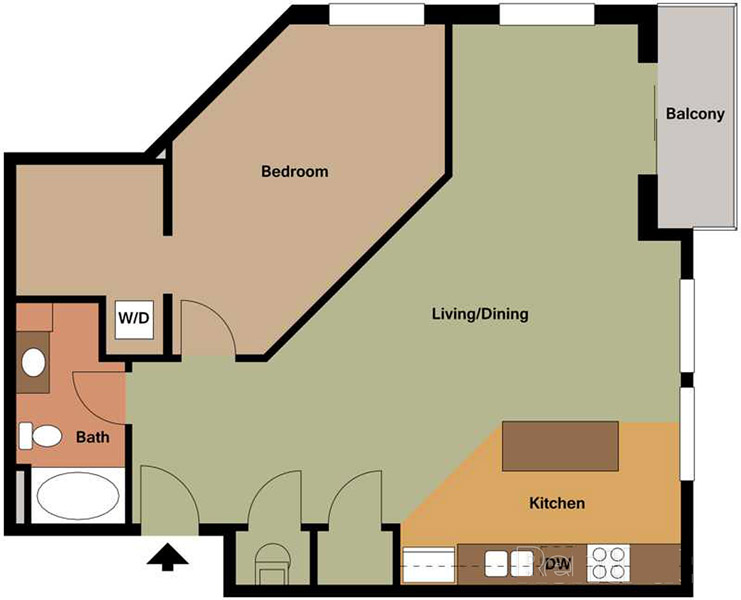 Centerline Apartments - Floorplan - OPRAH