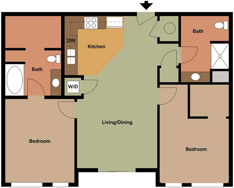 Centerline Apartments - Floorplan - AMELIA