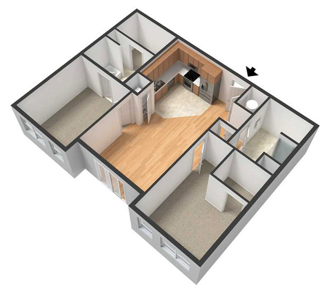 Centerline Apartments - Floorplan - AMELIA