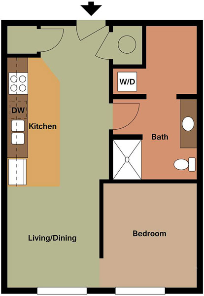 Centerline Apartments - Floorplan - KATHERINE