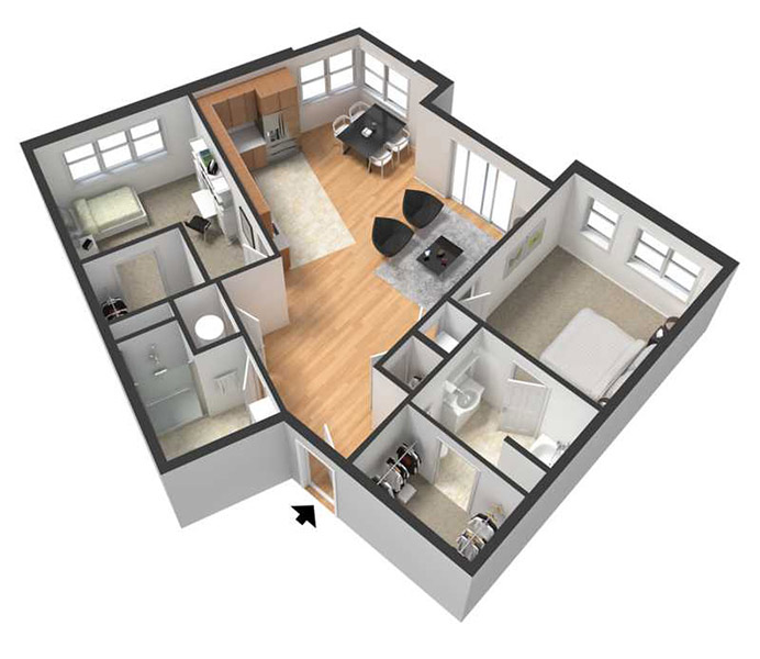 Floorplan - HARRIET image