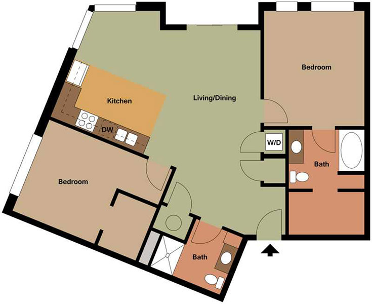 Centerline Apartments - Floorplan - HARRIET