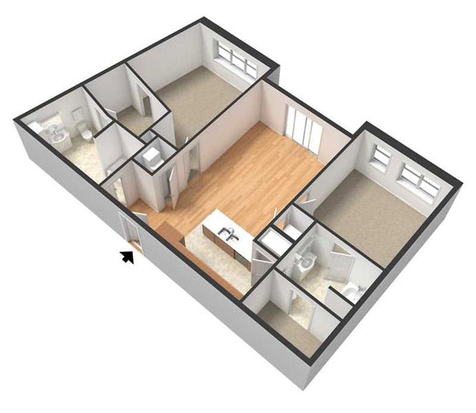 Centerline Apartments - Floorplan - SANDRA