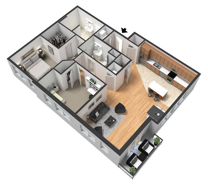 Centerline Apartments - Floorplan - ELEANOR