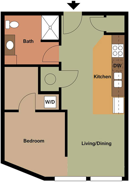 Centerline Apartments - Floorplan - GRACE