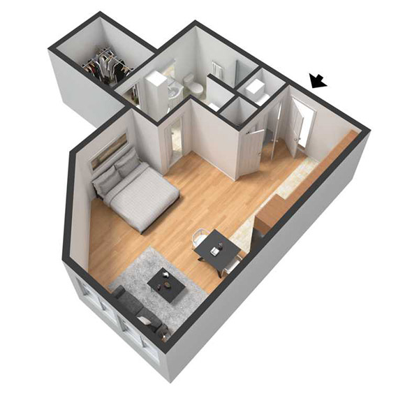 Centerline Apartments - Floorplan - NAOMI