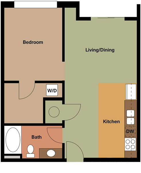 Centerline Apartments - Floorplan - FLORENCE