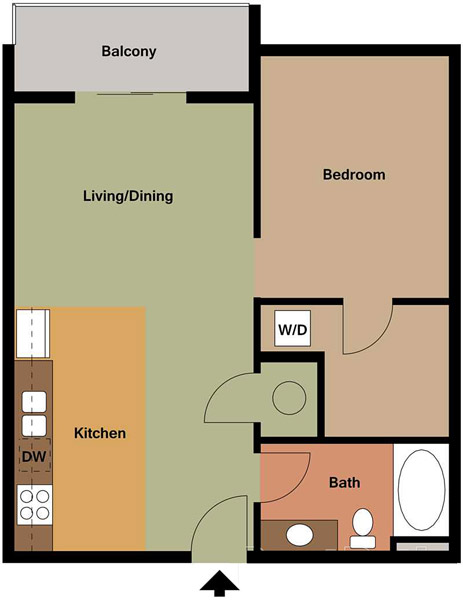 Centerline Apartments - Floorplan - CLARA