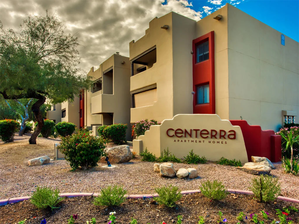 Welcome Signage at Centerra Apartments in Scottsdale, AZ