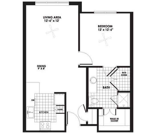 Floorplan - Apartment A image