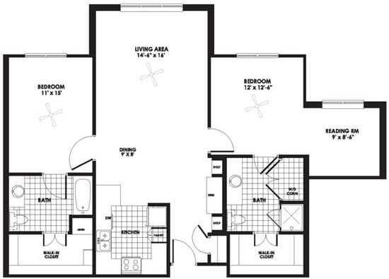 Champions Cove - Floorplan - Apartment C Supreme