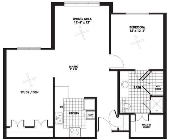 Floorplan - Apartment D image