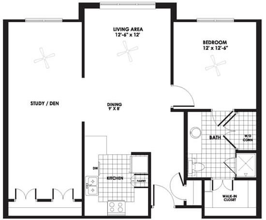 Champions Cove - Floorplan - Apartment D Deluxe